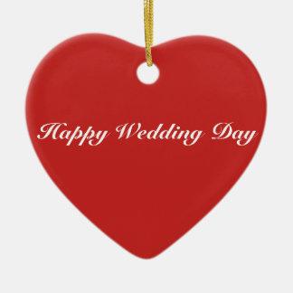 Ornamento do coração - dia do casamento feliz