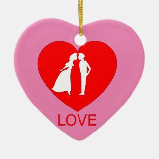 Ornamento do coração do amor