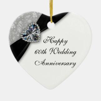 Ornamento do coração do aniversário de casamento