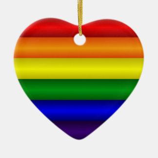Ornamento do coração do arco-íris
