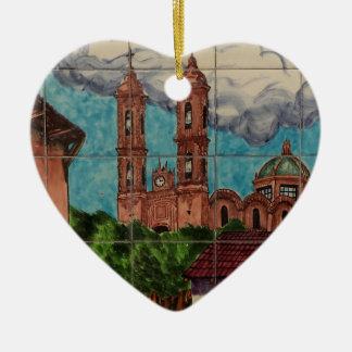 Ornamento do coração do azulejo da catedral