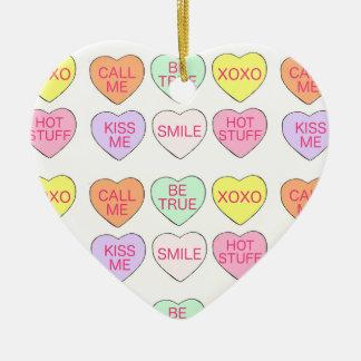 Ornamento do coração do dia dos namorados dos