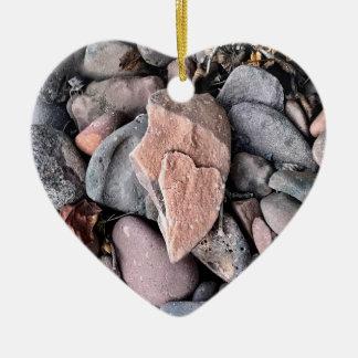 Ornamento do coração do favor do casamento