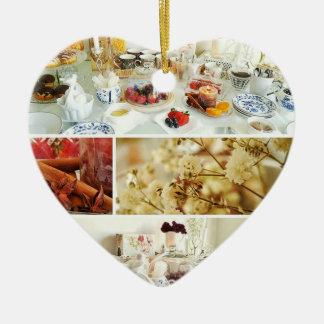 Ornamento do coração do pequeno almoço