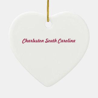 Ornamento do coração do SC de Charleston