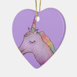 ornamento do coração do unicórnio