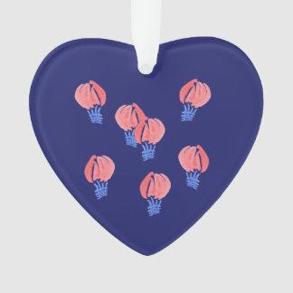 Ornamento do coração dos balões de ar