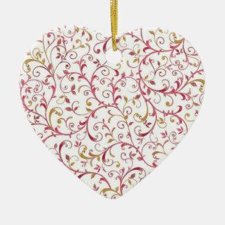 Ornamento do coração - rosa & chique do ouro