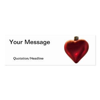 Ornamento do coração - tudo que eu quero para o cartão de visita skinny
