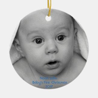 Ornamento do costume do menino do Natal do bebê