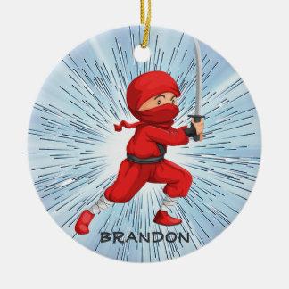 Ornamento do design do menino de Ninja