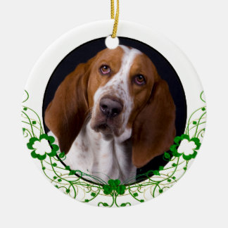Ornamento do Dia de São Patrício de Basset Hound
