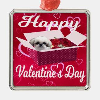 Ornamento do dia dos namorados do tzu de Shih, cão