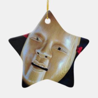 Ornamento do drama do teatro da máscara de Noh dos