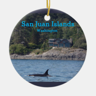Ornamento do estado de Washington das ilhas de San