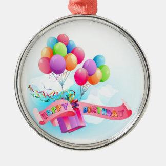 Ornamento do feliz aniversario