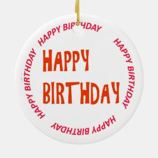 ORNAMENTO do feliz aniversario do happyBIRTHDAY