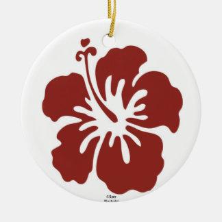 Ornamento do feriado da flor do hibiscus