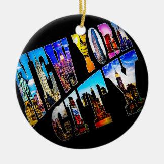Ornamento do feriado da Nova Iorque