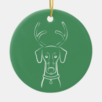 Ornamento do feriado de DTDR - Doberman natural