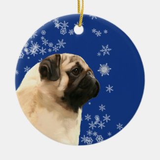 Ornamento do feriado de inverno do Natal do Pug