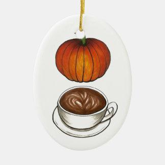 Ornamento do feriado de Latte do café da