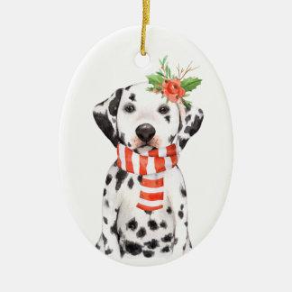 Ornamento do feriado do filhote de cachorro