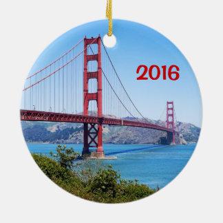 Ornamento do feriado do Golden Gate