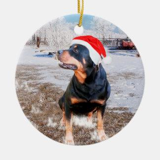 Ornamento do feriado do Natal da neve de