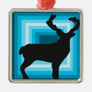 Ornamento do feriado do quadrado da silhueta dos