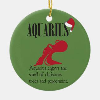 Ornamento do feriado do zodíaco do Aquário