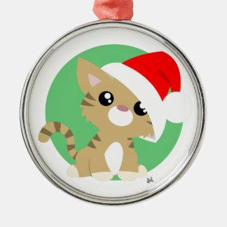 Ornamento do gatinho do Natal de Tan