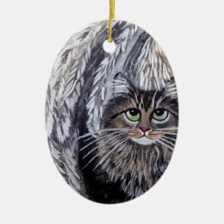 Ornamento do gato de racum de Maine do anjo