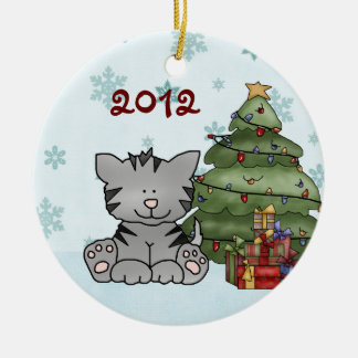 Ornamento do gato do Natal do bebê personalizado ø
