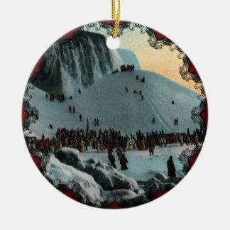 Ornamento do gelo de Niagara Falls do vintage