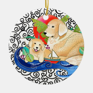 ORNAMENTO DO GOLDEN RETRIEVER DE BINDI