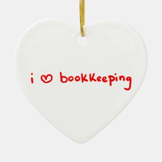 Ornamento do guarda-livros - contabilidade do amor