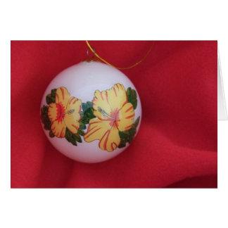 Ornamento do hibiscus cartão comemorativo