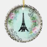 Ornamento do impressão da zebra dos rosas da torre