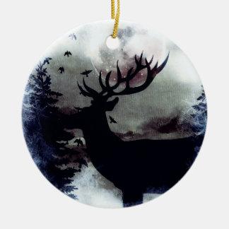 Ornamento do inverno do fanfarrão da Lua cheia