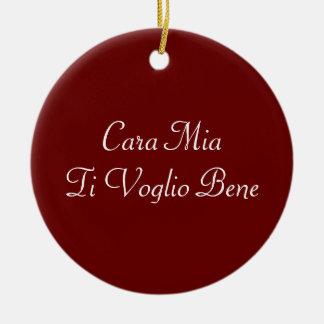 Ornamento do italiano de Voglio Bene do Ti de Cara