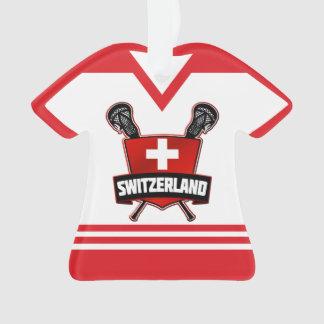 Ornamento do Lacrosse da suiça do nome & do número