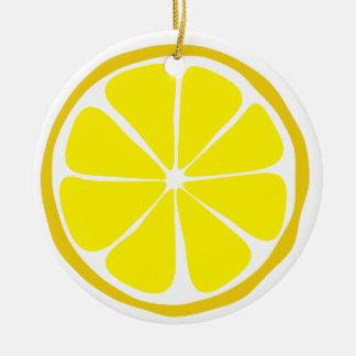 Ornamento do limão do citrino do verão