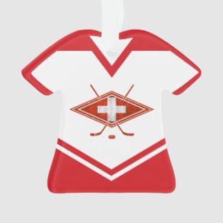 Ornamento do logotipo da suiça do jérsei do nome &