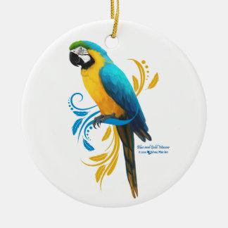 Ornamento do Macaw do azul e do ouro