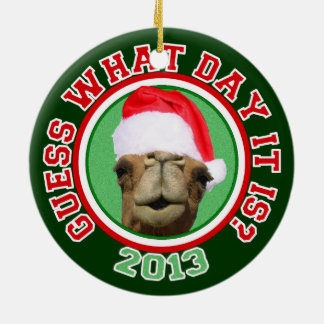 Ornamento do Natal 2013 do papai noel do camelo do