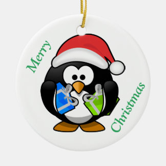 Ornamento do Natal & do feliz ano novo do pinguim