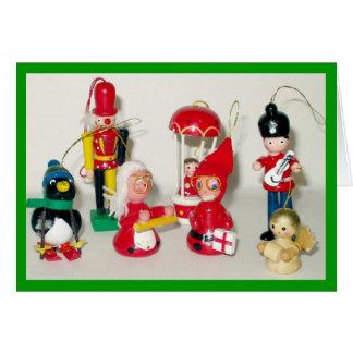Ornamento do natal vintage cartões
