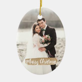 Ornamento do Newlywed do Natal do casado