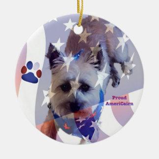Ornamento do orgulho da bandeira de Terrier de